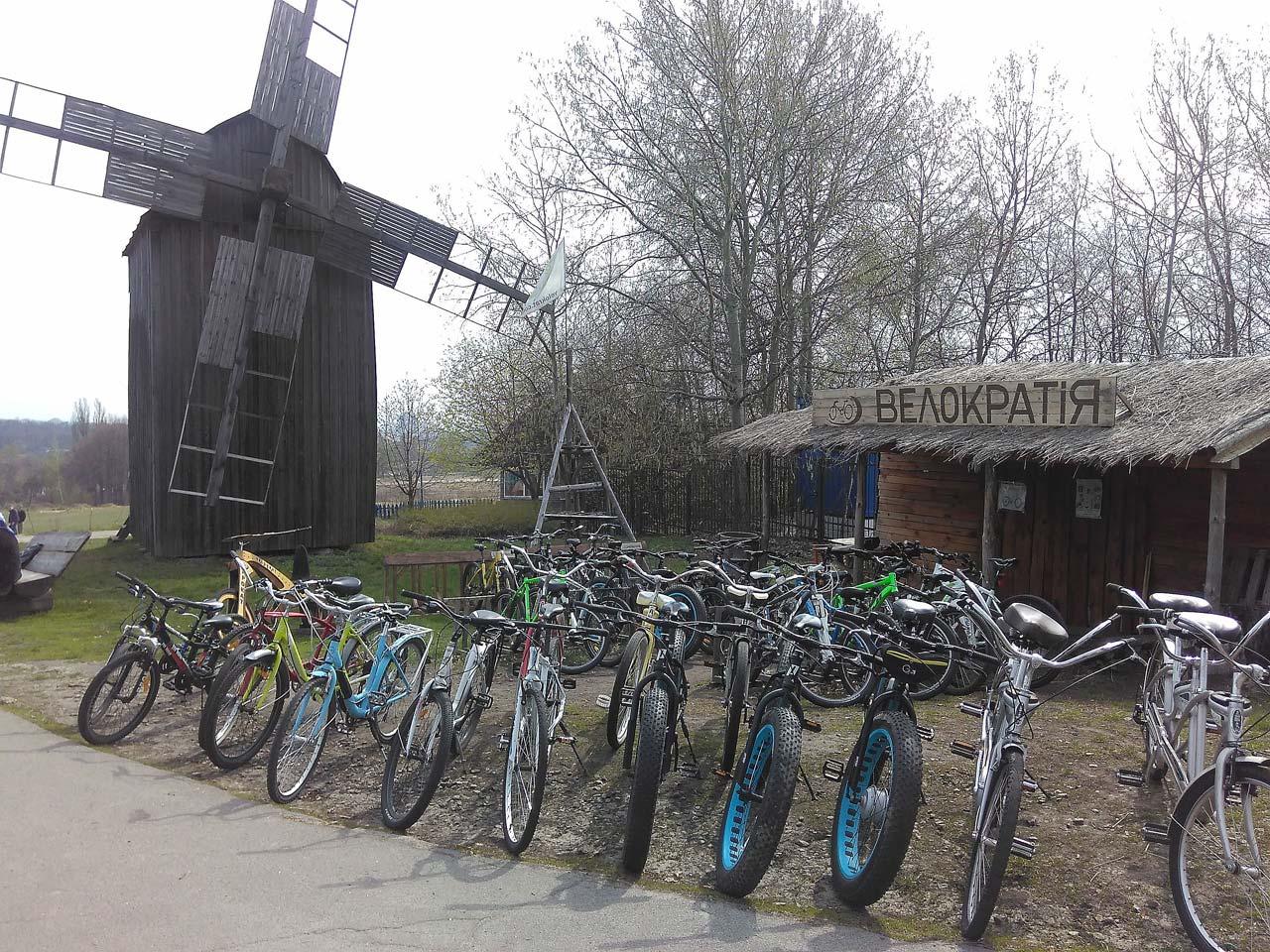 Фото, прокат велосипедов в Музее архитектуры и народного быта Украины ПИРОГОВО